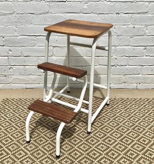 Vintage Folding Step Ladder Stool #189