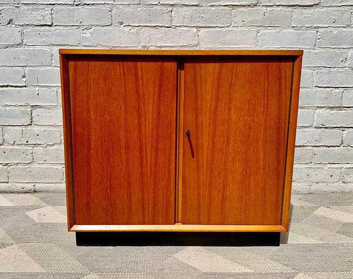 Vintage Teak Record Storage Cabinet #D441