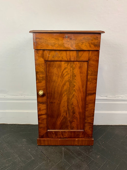 Victorian Bedside Table Cupboard with Drawer #979