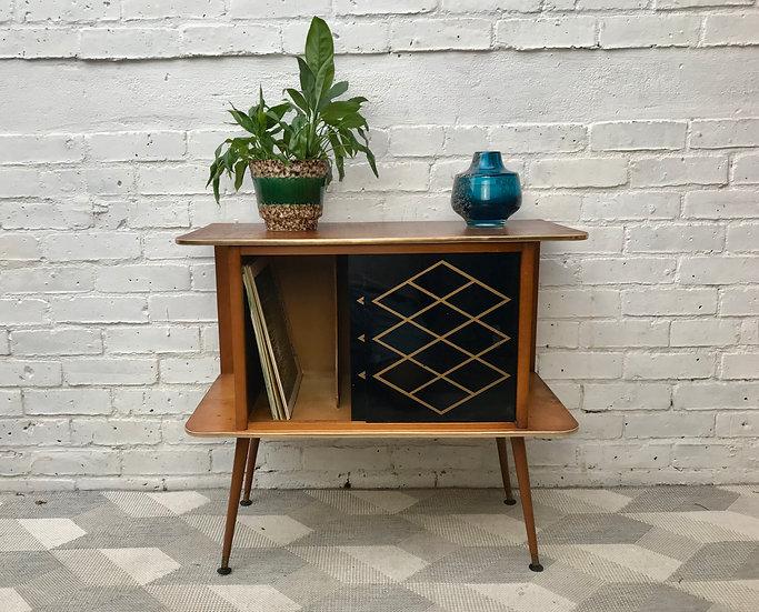 Vintage Retro Record Cabinet Sideboard Small #734