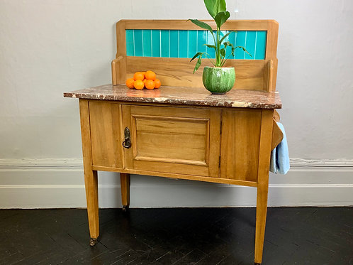 Vintage Washstand Storage Cabinet Sideboard #940