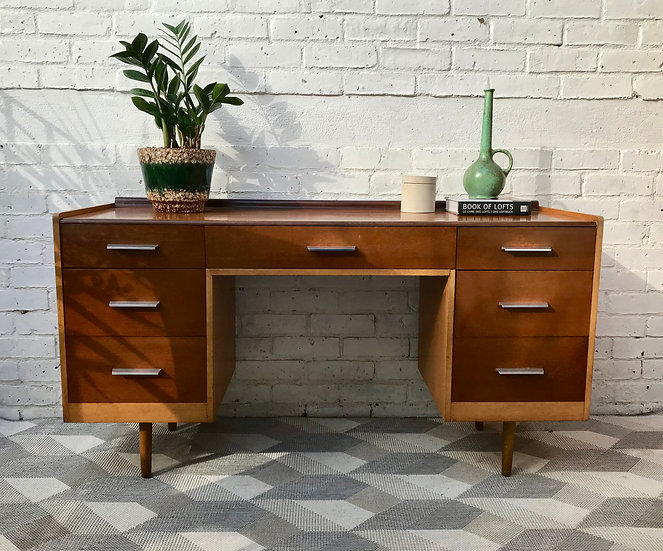 Vintage Retro Dressing Table Desk with Drawers #616