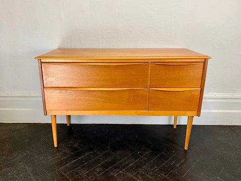 Vintage Sideboard With 4 Drawers Teak #D8