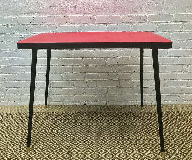Red Vintage Retro Kitchen Dining Table #438