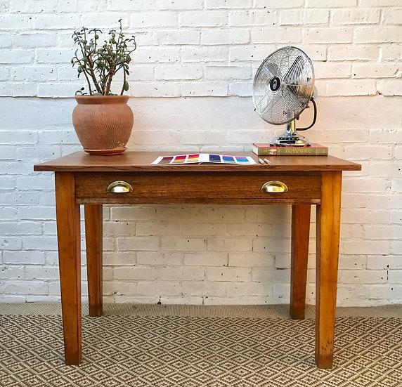 Old Vintage Oak Desk with Drawer #381