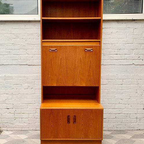 Vintage G Plan Cabinet Wall Unit Bureau Teak