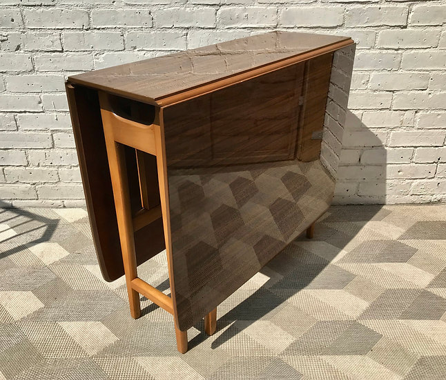 Vintage Folding Gate Leg Table Wooden #777