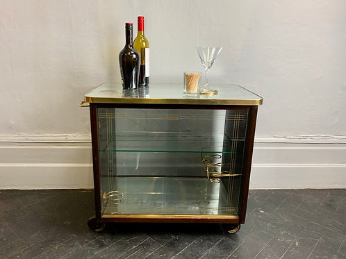 Vintage Italian Drinks Trolley Cabinet Mirrored #991