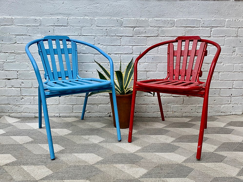 Vintage Pair of Garden Patio Chairs #D38