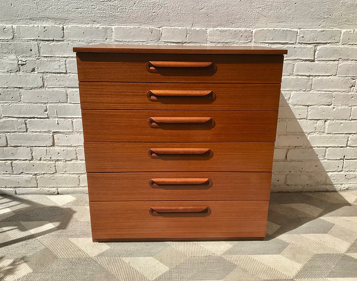 Vintage Retro Chest of Bedroom Drawers Schreiber #743