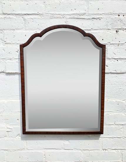 Vintage Wall Mirror Wood Frame #D146