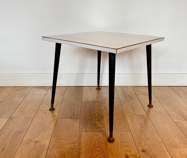 Vintage Square Side Coffee Table Formica corner