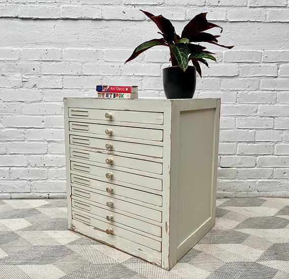 Vintage Dentist Cabinet Haberdashery Drawers side