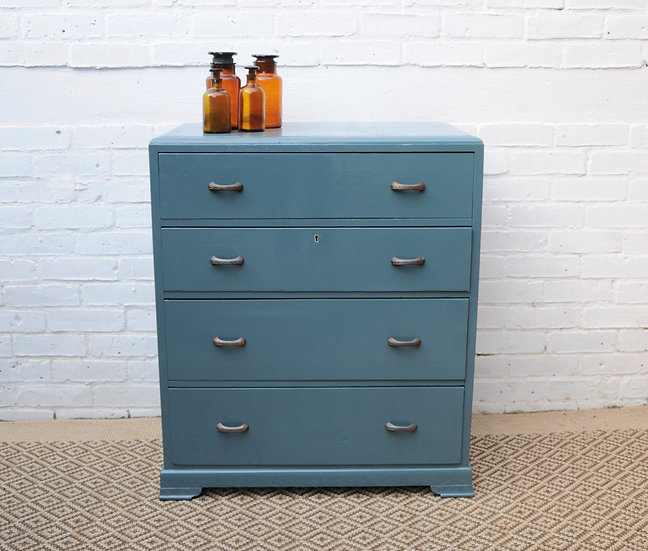 VINTAGE BLUE CHEST OF DRAWERS