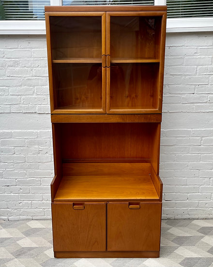 Vintage Wall Unit Bookcase Display Cabinet