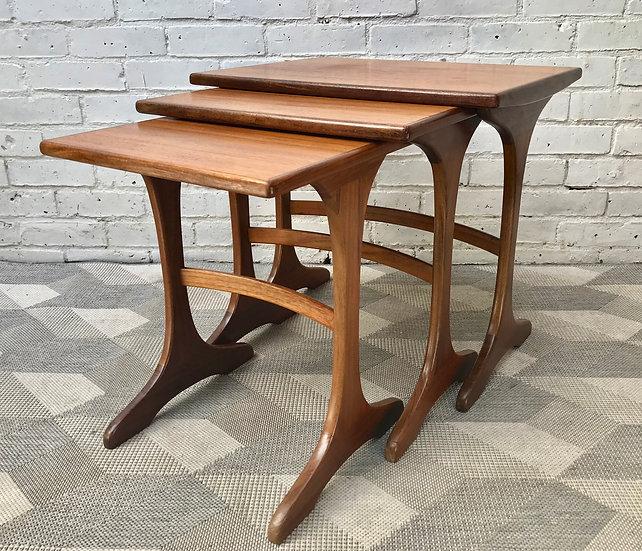 Vintage G Plan Nested Coffee Tables Teak #720