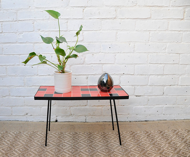 SMALL TILED RETRO COFFEE TABLE