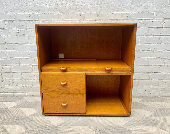 Vintage Media Cabinet Bookshelf Cupboard by Stag