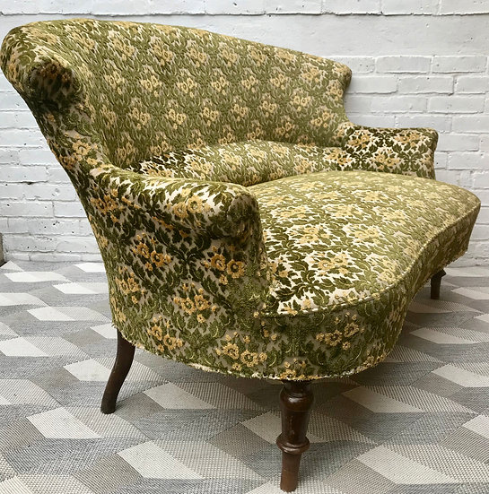 Victorian Sofa Settee Green #505