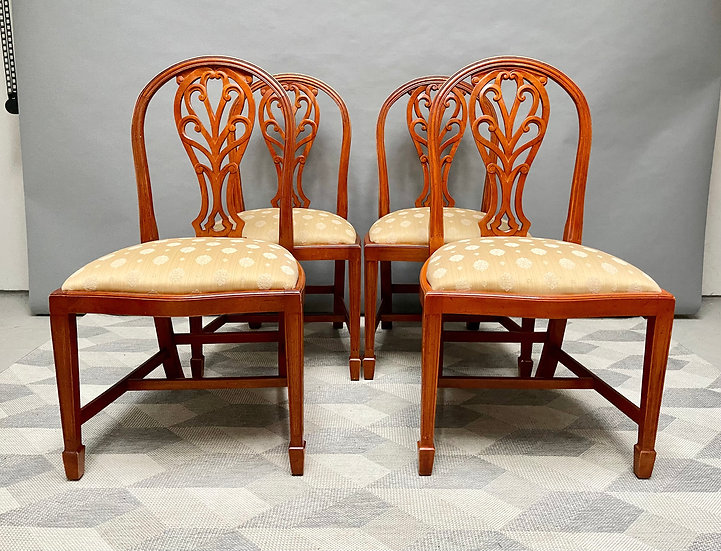 Set of 4 Antique Style Dining Chairs