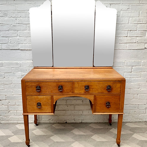 Vintage Dressing Table with Mirror and Drawers