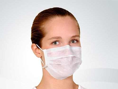 Máscara Descartável em TNT com elástico