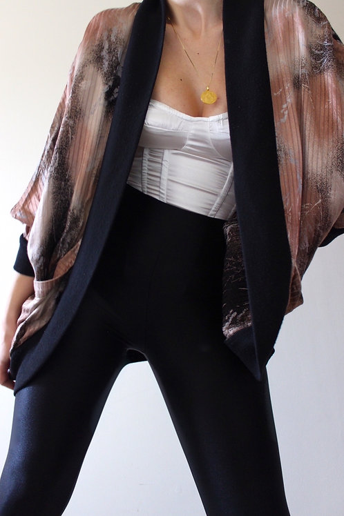 Vintage Kimono-Style Iridescent Cardigan