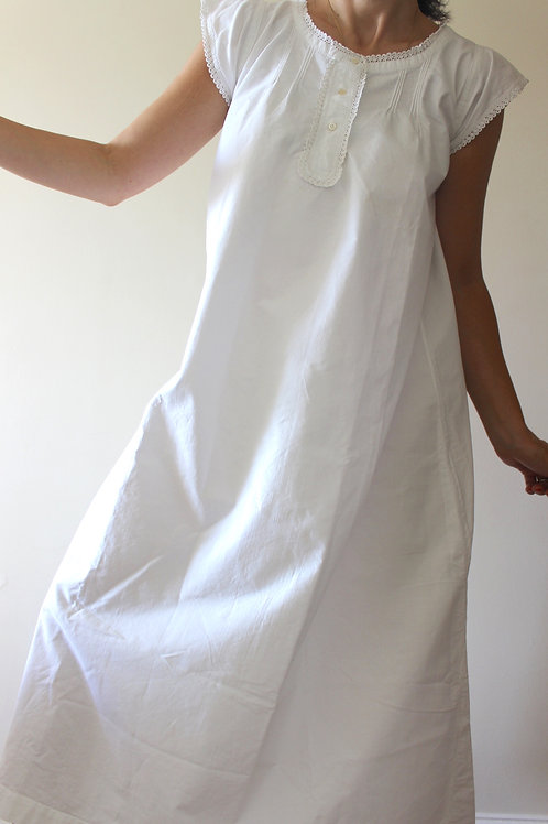 ANTIQUE French Cap Sleeve Nightgown