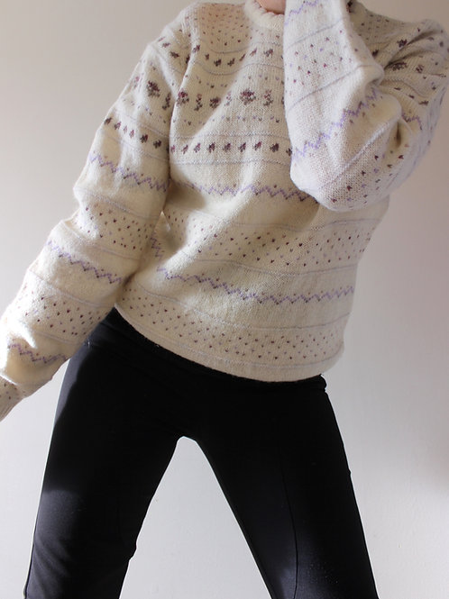 Vintage Pure Wool Sweater Made in Scotland