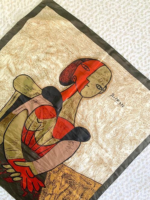 Vintage Picasso Portrait Foulard