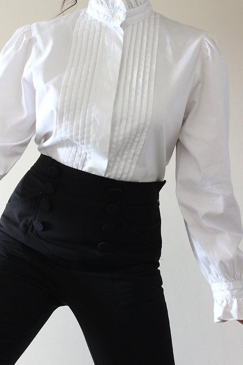 VINTAGE Laura Ashley Pure Cotton Edwardian Blouse