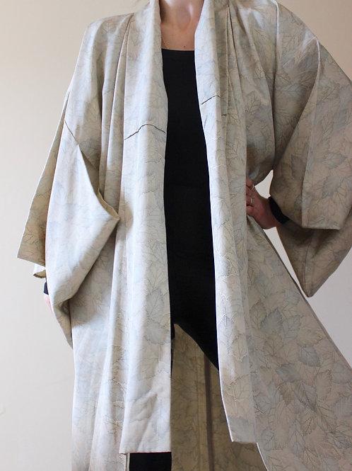 Vintage Full Length Floral Japanese Kimono