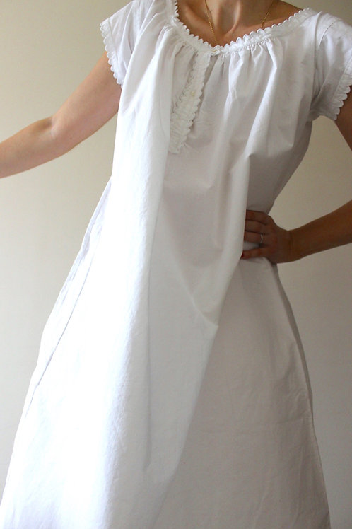 Antique French Cap Sleeve Nightgown with Monogram