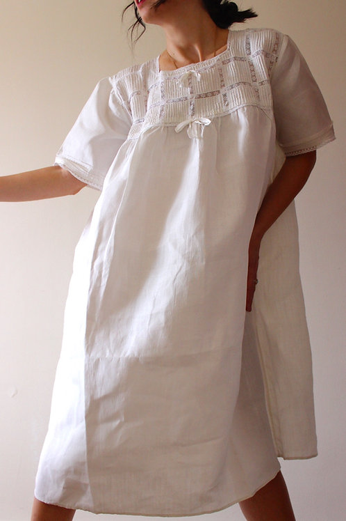 Antique Italian Pure Linen Nightgown