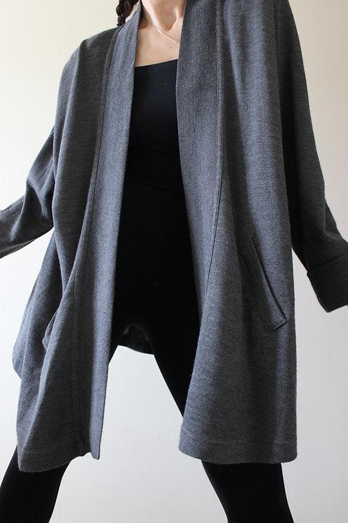 Vintage Wool Grey Cardigan Made in Germany