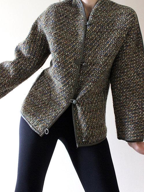 1960s Vintage Irish Tweed Cardigan