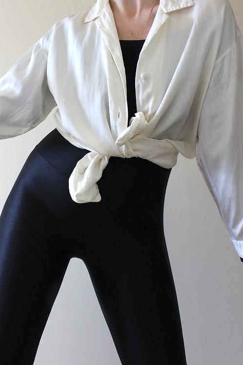 Vintage 100% SILK French Pyjama Shirt by Galeries Lafayette