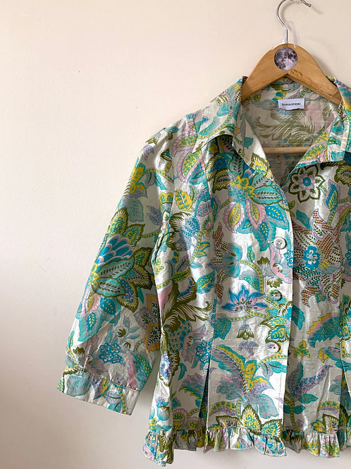 Vintage Pucci-style 100% SILK Floral 60s style Top by BORGOFIORI