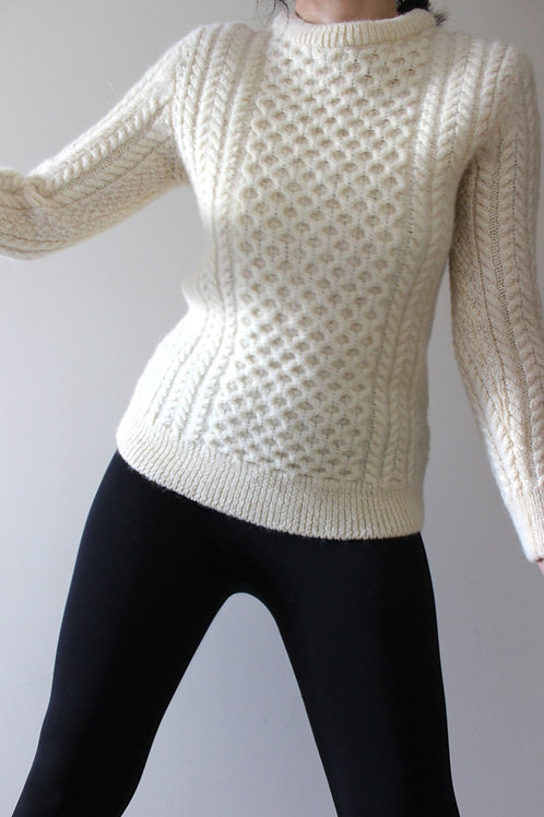 Vintage Irish Aran Sweater