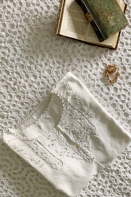 Antique Pure Linen Hand-Embroidered Shirt