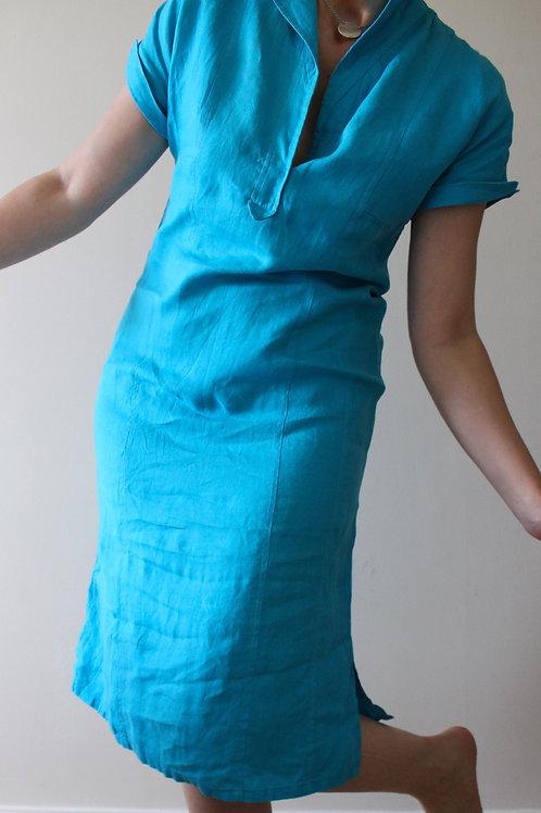 Vintage LUISA SPAGNOLI Pure Linen Midi Dress