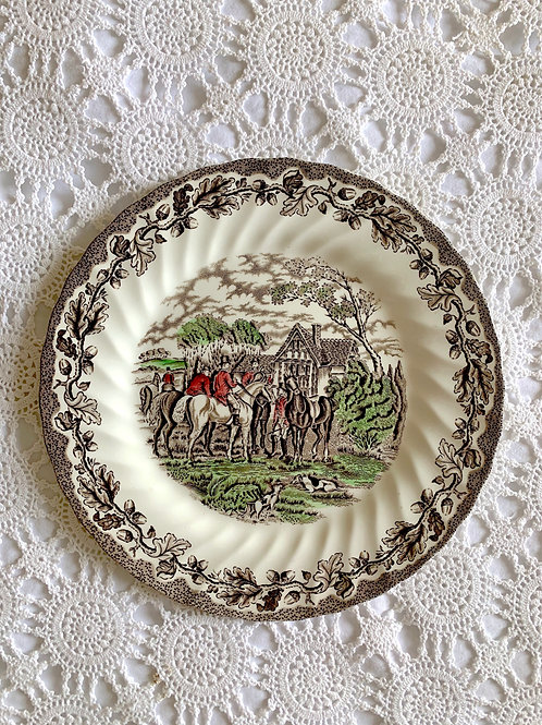 Vintage Hand-Engraved Staffordshire Plate MADE in ENGLAND