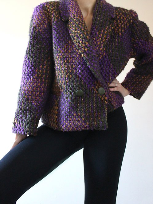 Vintage Chunky Knit Blazer MADE in FRANCE
