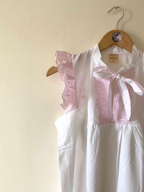 Vintage Prairie-Style Ruffle Nightdress MADE in ITALY