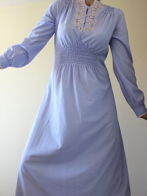 Vintage Romantic Italian Smock Dress with Lace