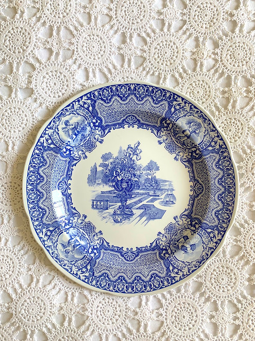 RARE SPODE Blue Room Collection 'Seasons' Plate, Porcelain MADE in ENGLAND
