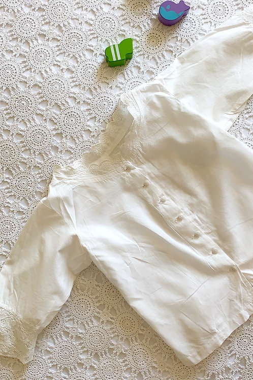 KIDS French Antique Cotton Camisole with Lace for Children