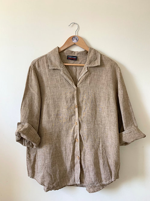 Vintage 100% LINEN Shirt by Gigliorosso, MADE in ITALY