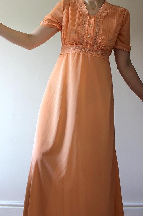 Vintage Full Length Terracotta Dress MADE in ITALY