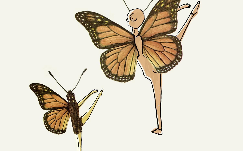 רקדנית פרפר. מתוך פרויקט לתיאטרון הקרון